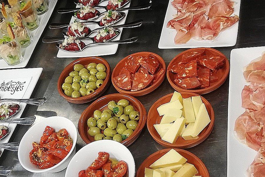 Feestelijke hapjes van de catering van Restaurant Smoesjes in Utrecht
